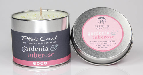 Potters Crouch Gardenia and Tuberose Luxury Fragranced Candle Tin - Candles - Spiffy