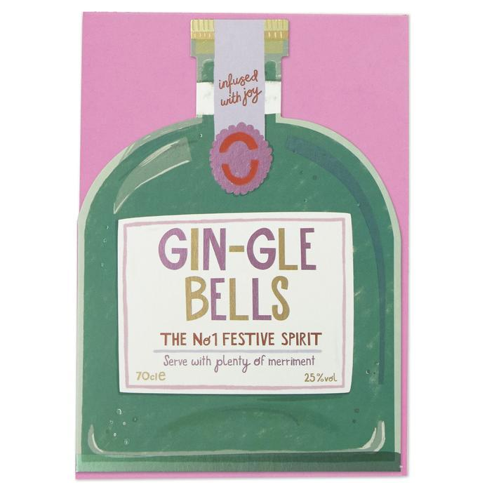 """Gin-gle Bells"" Christmas Card - Spiffy"