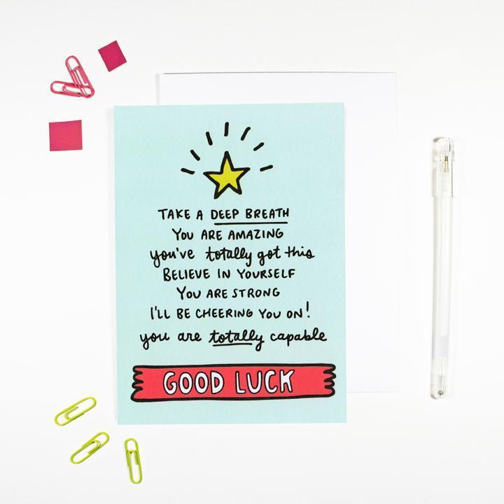 'Take A Deep Breath' Good Luck Card by Angela Chick - Cards - Encouragement - Spiffy