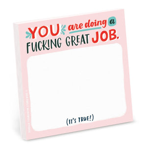 You are doing a F*!cking Great Job Sticky Notes - Spiffy