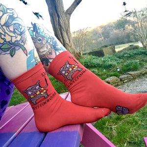 Gryffinboar Harry Potter Inspired Socks by Katie Abey - Socks - Spiffy