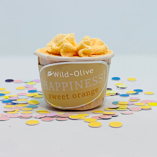 Happiness Wellbeing Bath Melt by Wild Olive - Spiffy