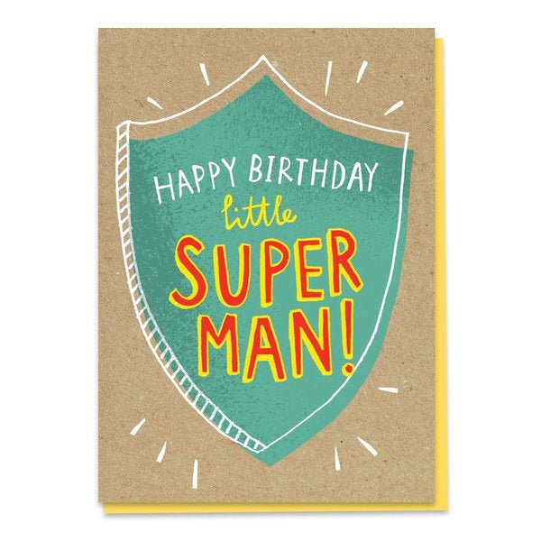 Happy Birthday Little Super Man Birthday Card