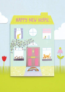 """Happy New Home"" Greetings Card - Cards - New Home - Spiffy"