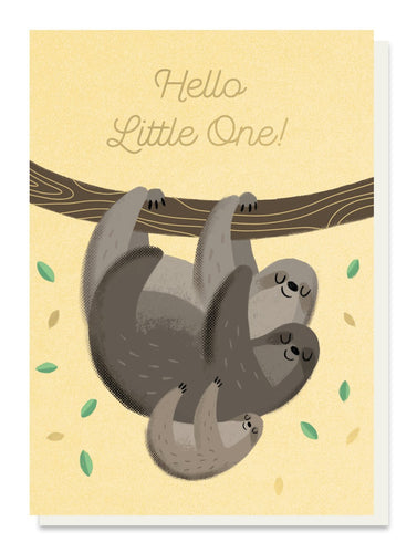 Baby Sloth New Baby Card - Cards - New Baby - Spiffy