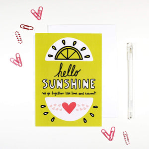 'Hello Sunshine' Card by Angela Chick - Cards - Friendship - Spiffy
