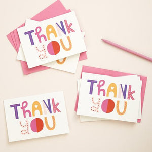 Hey You Thank You Card 6pk - Cards - Thank You - Spiffy
