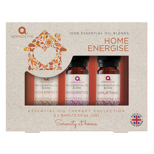 Home Energise - 100% Essential Oil Therapy Collection - Essential Oil Blends - Spiffy
