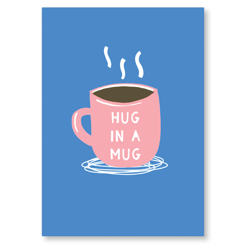 Hug In A Mug A6 Postcard