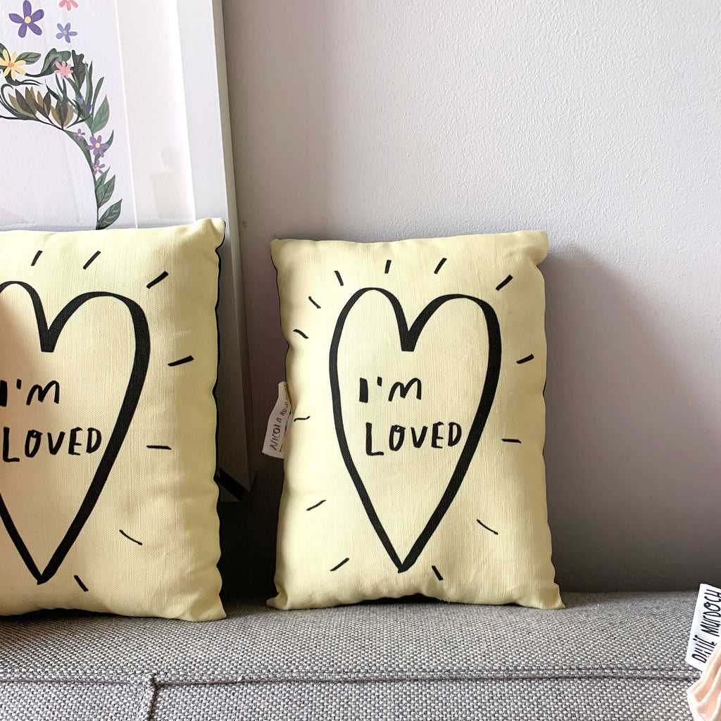 I'm Loved Plushie Cushion - Spiffy