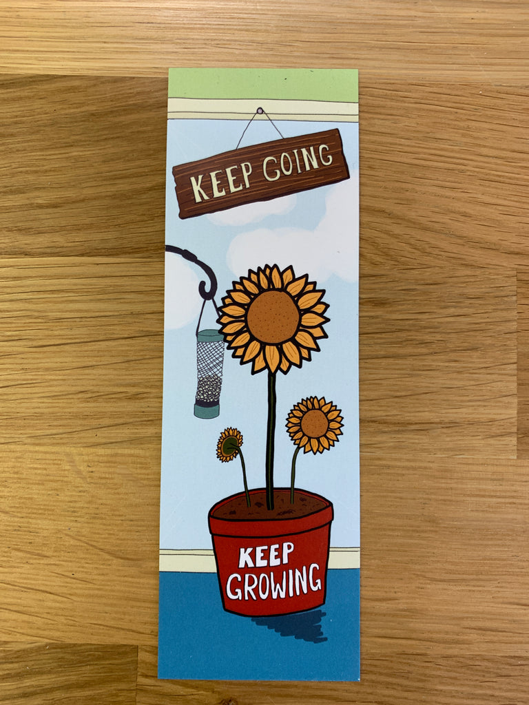 Charity Bookmark - Keep Going, Keep Growing - Spiffy