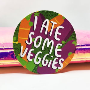 I Ate Some Veggies Adulting Sticker by Katie Abey - Spiffy