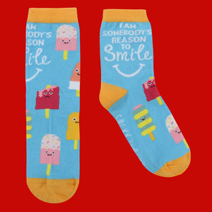 I'm Somebody's Reason to Smile - Children's Socks - Children's Socks - Spiffy