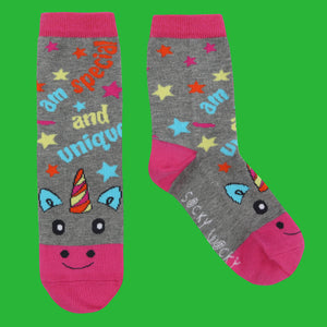 I am Special and Unique Unicorn - Children's Socks