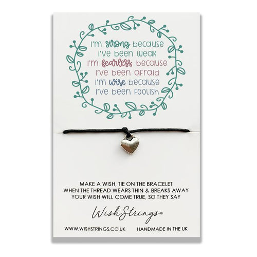Strong Fearless Wise - Wishstrings Wish Bracelet - Wish Bracelets - Spiffy