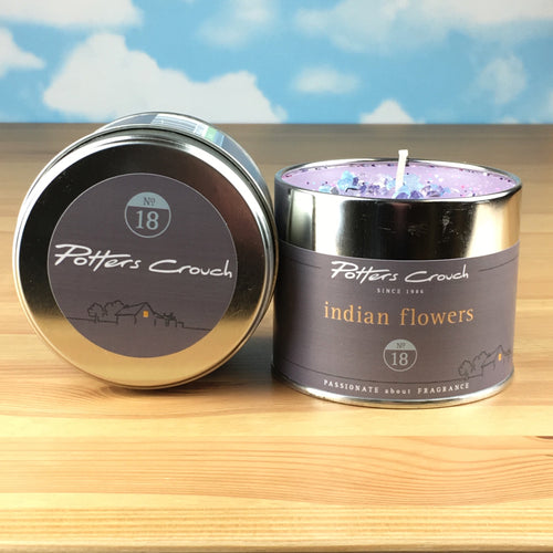 Potters Crouch Indian Flowers Luxury Fragranced Candle Tin