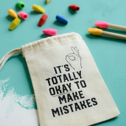 It's Ok to Make Mistakes Eraser Set - Pens and Pencils - Spiffy