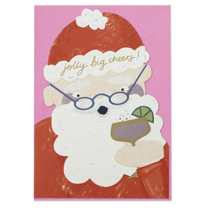 """Jolly Big Cheers"" Christmas Card - Spiffy"