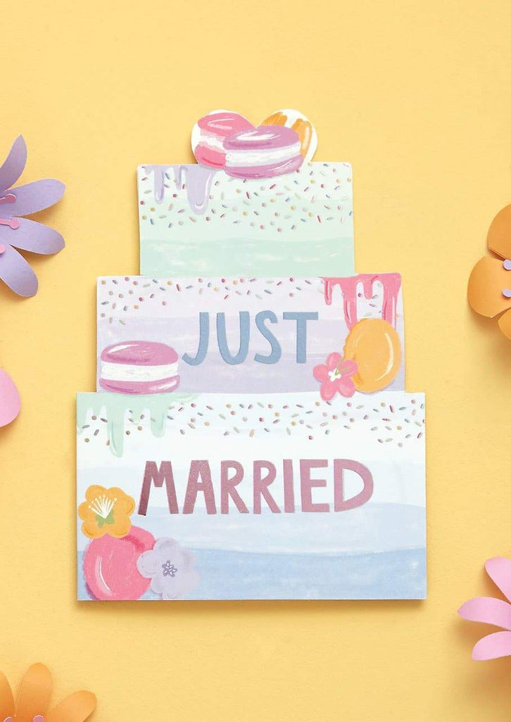 """Just Married"" Wedding Card - Spiffy"