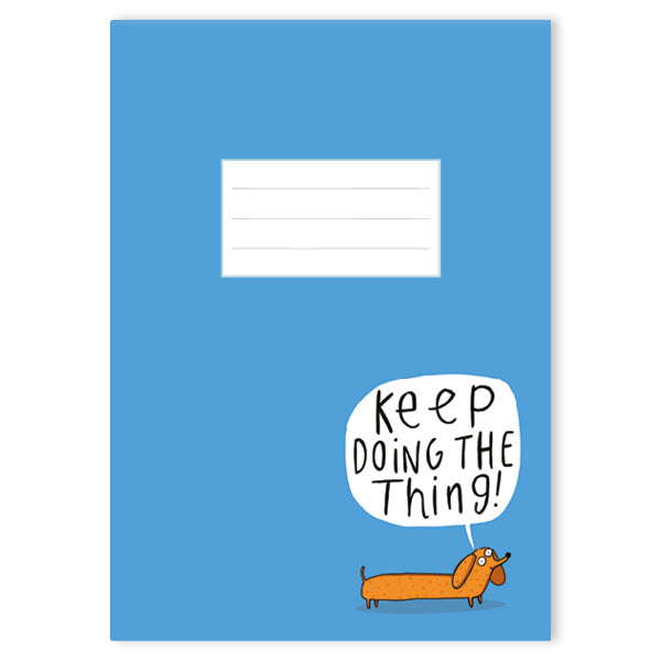 Keep Doing The Thing A5 Notebook by Katie Abey - Notebooks - Spiffy