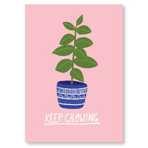 Keep Growing Postcard