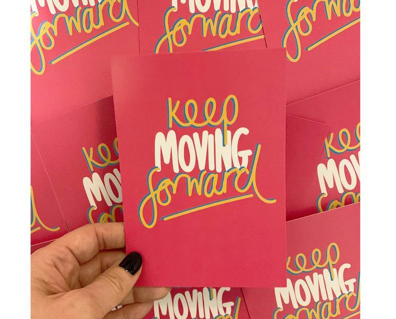 Keep Moving Forward A6 Postcard - Postcards - Spiffy