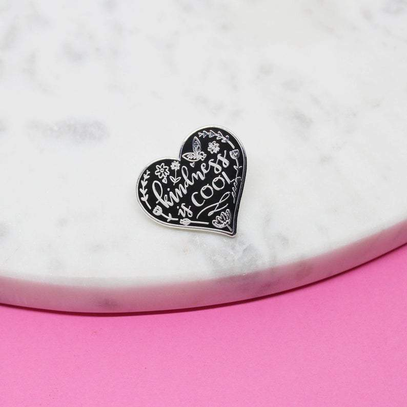 Kindness is Cool Enamel Pin - Spiffy