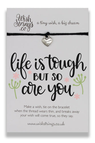 Life Is Tough - Wishstrings Wish Bracelet - Wish Bracelets - Spiffy