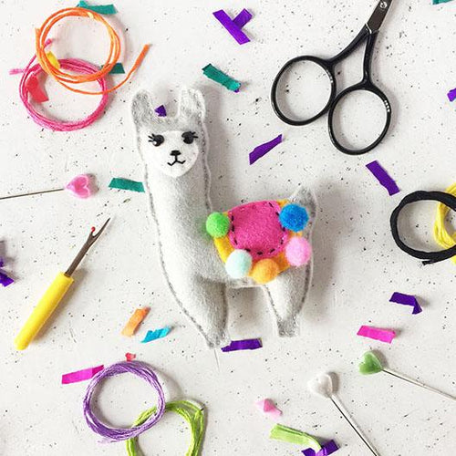 Llama Felt Sewing Kit - Sewing Kits - Spiffy