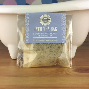 Lavender, Patchouli and White Tea - Bath Tea Bag by Wild Olive