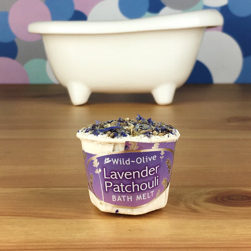 Lavender & Patchouli Luxury Bath Melt by Wild Olive