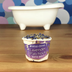 Lavender & Patchouli Luxury Bath Melt by Wild Olive - Bath Melts - Spiffy