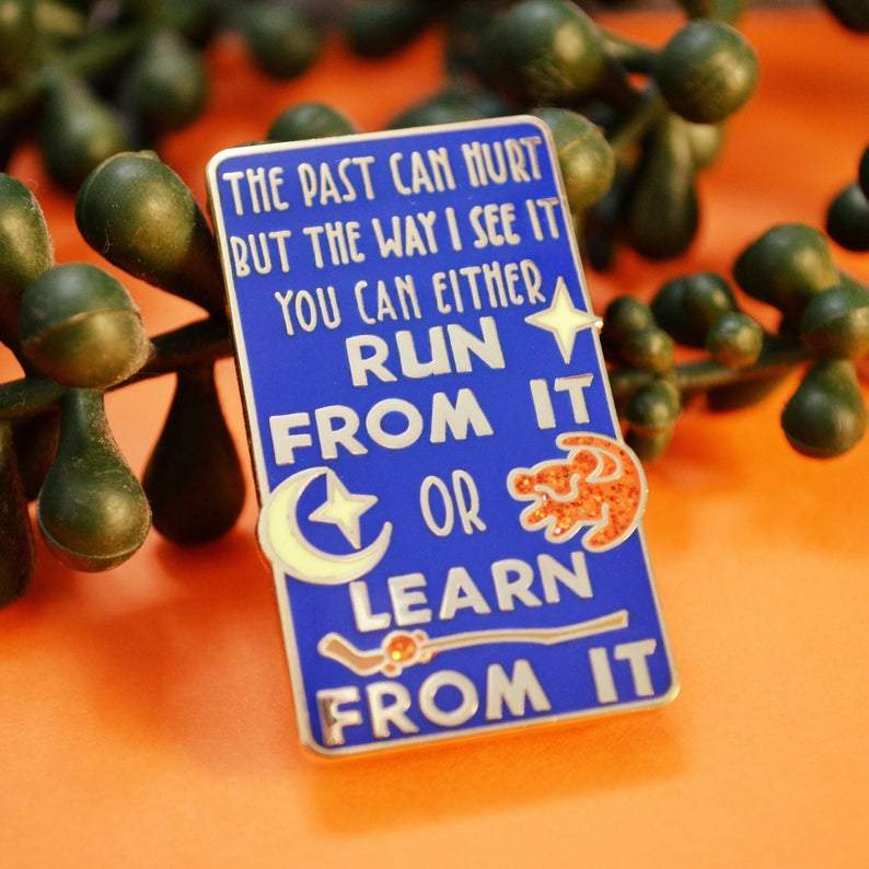 Learn From the Past Enamel Pin