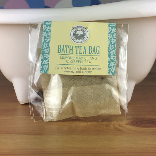 Lemon, May Chang and Green Tea - Bath Tea Bag by Wild Olive