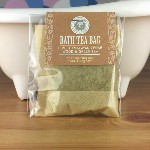 Lime, Himalayan Cedarwood and Green Tea - Bath Tea Bag by Wild Olive