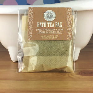 Lime, Himalayan Cedarwood and Green Tea - Bath Tea Bag by Wild Olive - Spiffy