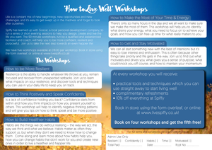 Flyer - How to Live Well Workshops - Publications - Spiffy