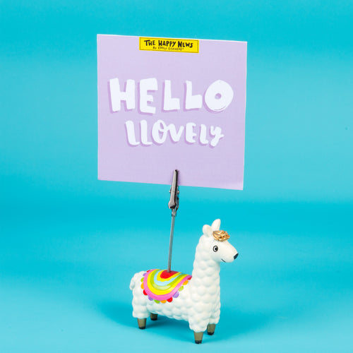 Llama Clip Photo Holder - The Happy News collection