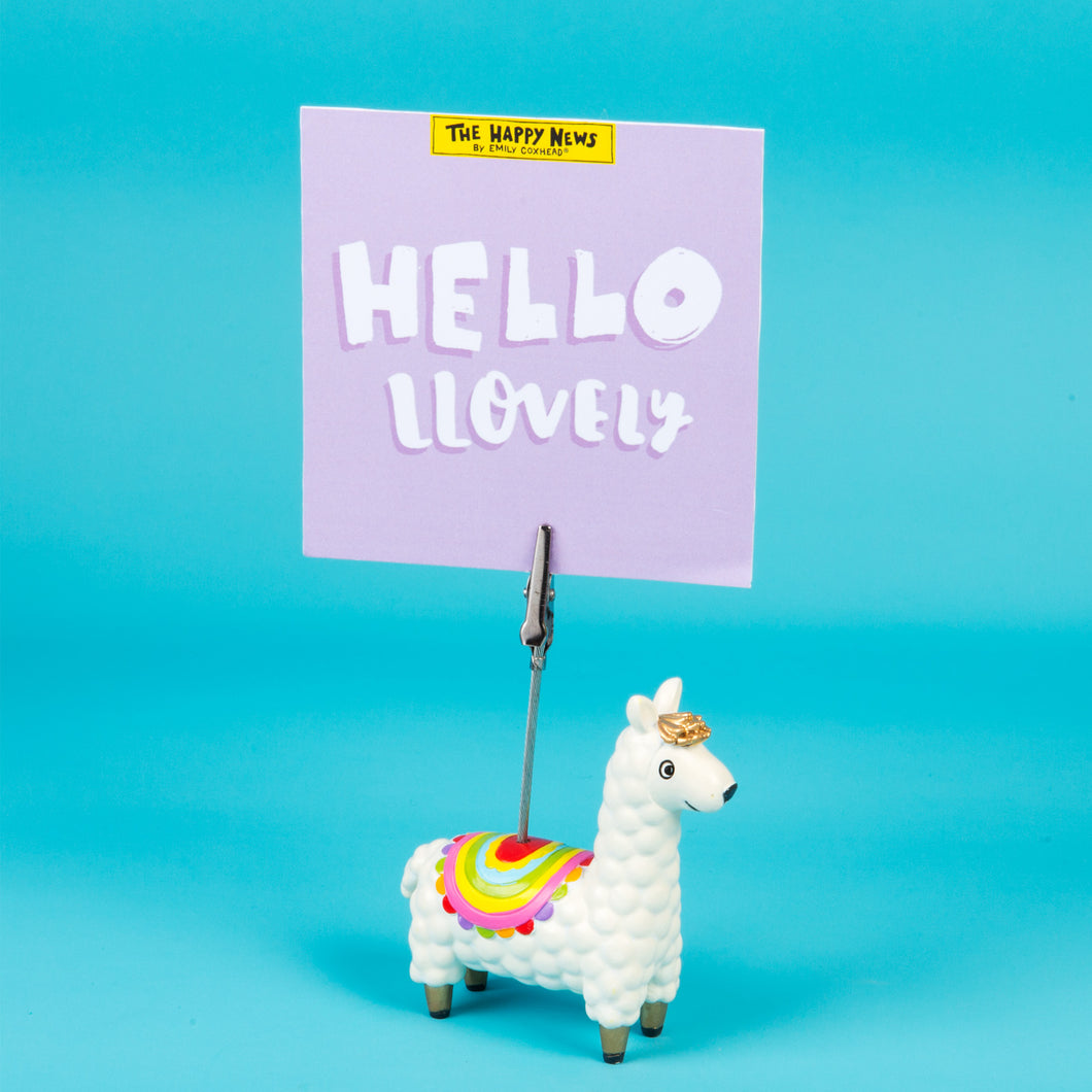Llama Clip Photo Holder - The Happy News collection - Clip Photo Holders - Spiffy