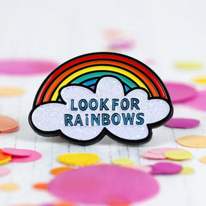 Look for Rainbows Enamel Pin - Enamel Pins - Spiffy