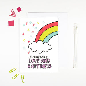 'Sending Love and Happiness' Card by Angela Chick - Cards - Encouragement - Spiffy