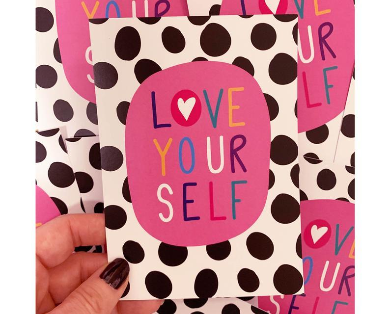 Love Yourself A6 Postcard - Postcards - Spiffy