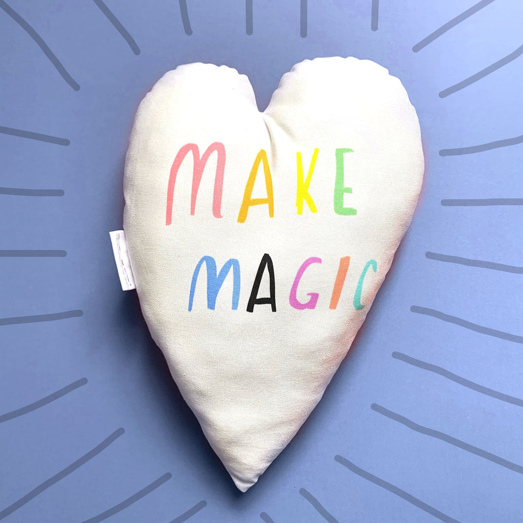 Make Magic Heart Plushie Cushion - Spiffy