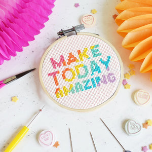 Make Today Amazing Cross Stitch Kit - Cross Stitch Kits - Spiffy