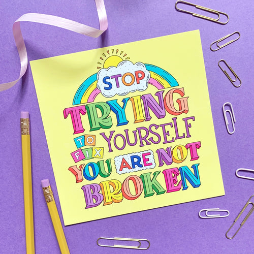 Stop Trying To Fix Yourself Postcard Print - Spiffy