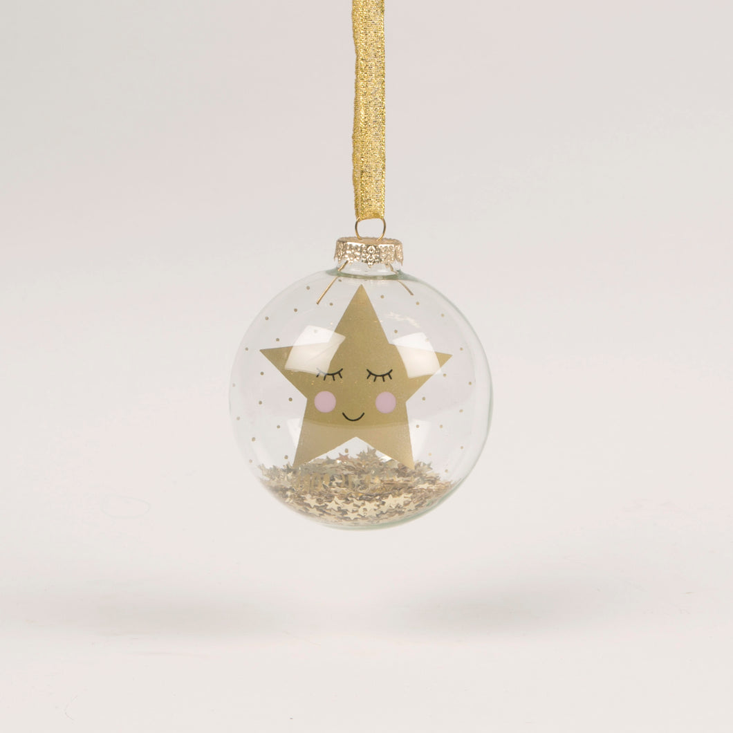 Merry Christmas Sweet Dreams Star Bauble - Christmas Hanging Decorations - Tree - Spiffy
