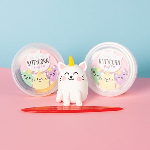 Make Your Own Kittycorn - Dough Modelling Kit - Craft Kits - Spiffy