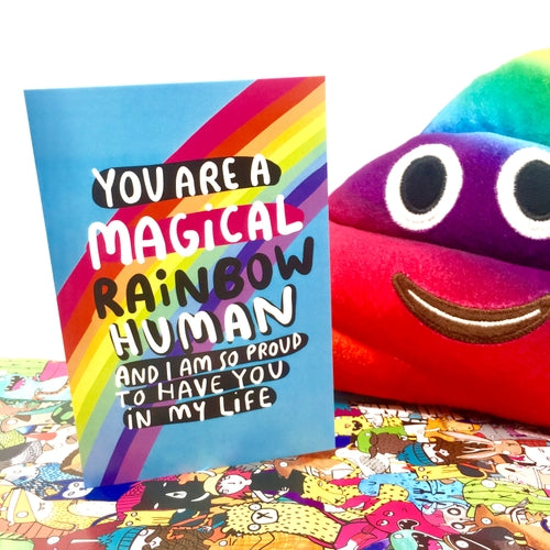 Magical Human Being Coming Out Card by Katie Abey