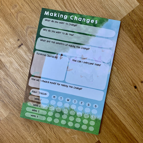 Making Changes - Habit Tracker A5 Notepad - Spiffy