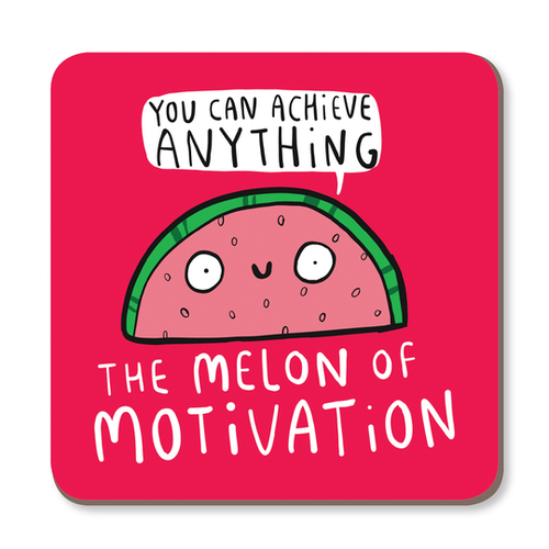 Melon of Motivation Coaster by Katie Abey - Spiffy